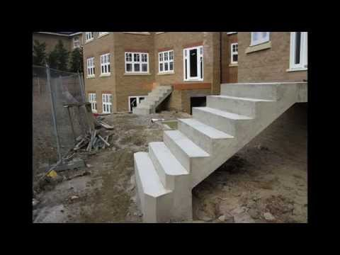 how to build concrete steps formwork