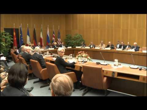 EU HR Catherine Ashton at the E3+3 negotiations with Iran: Roundtable