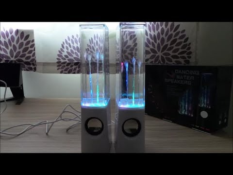 REVIEW OF AMOS USB Dancing Water Splash Fountain Colourful LED Jet Stereo Hi-Fi Music Speakers