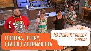 El grupo de Fidelina, Jeffry, Claudio y Bernardita   MasterChef Chile 4   Capítulo 1