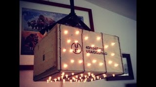 How To Make A Wooden Crate Light