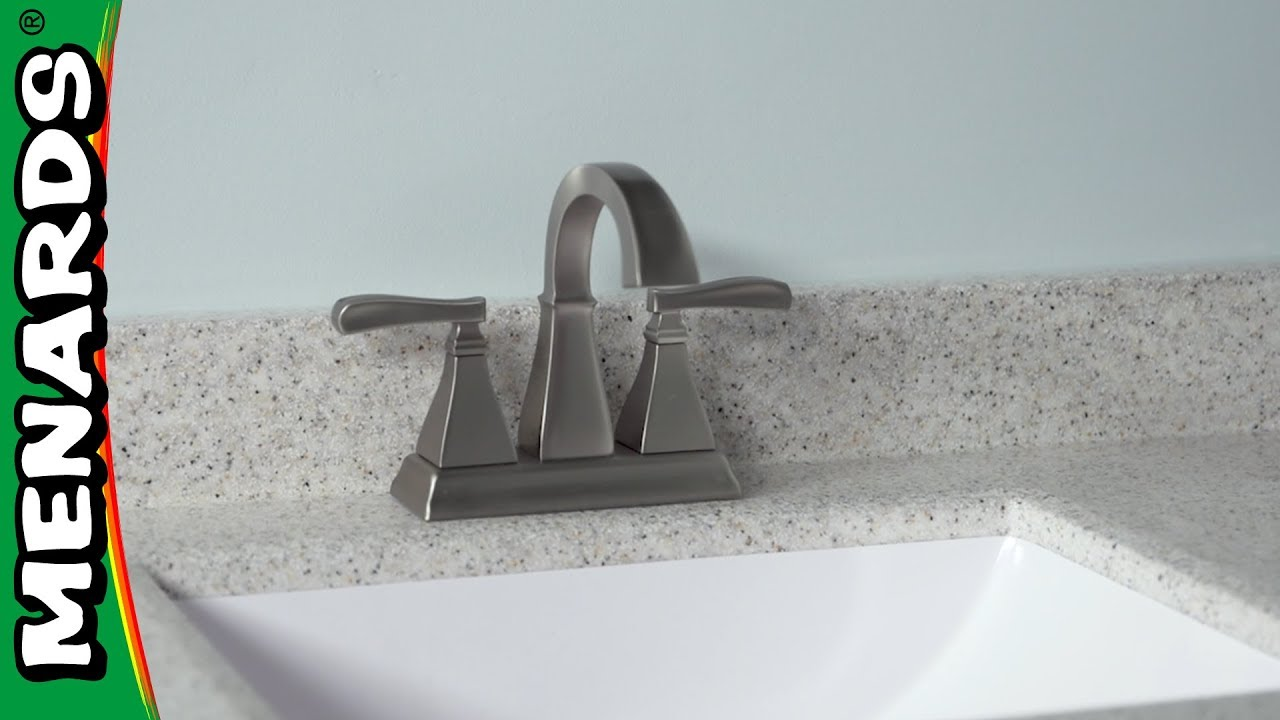 How To Install A Bathroom Faucet   Menards