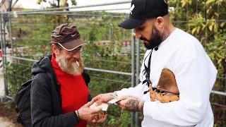 Einem Obdachlosen 3000€ geben