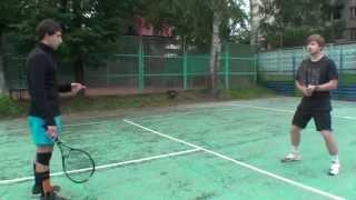 Теннис. Передвижения по площадке и работа ног. Часть 1 - готовность к удару соперника.