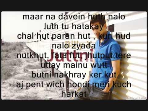 billy-x juttni punjabi with lyrics