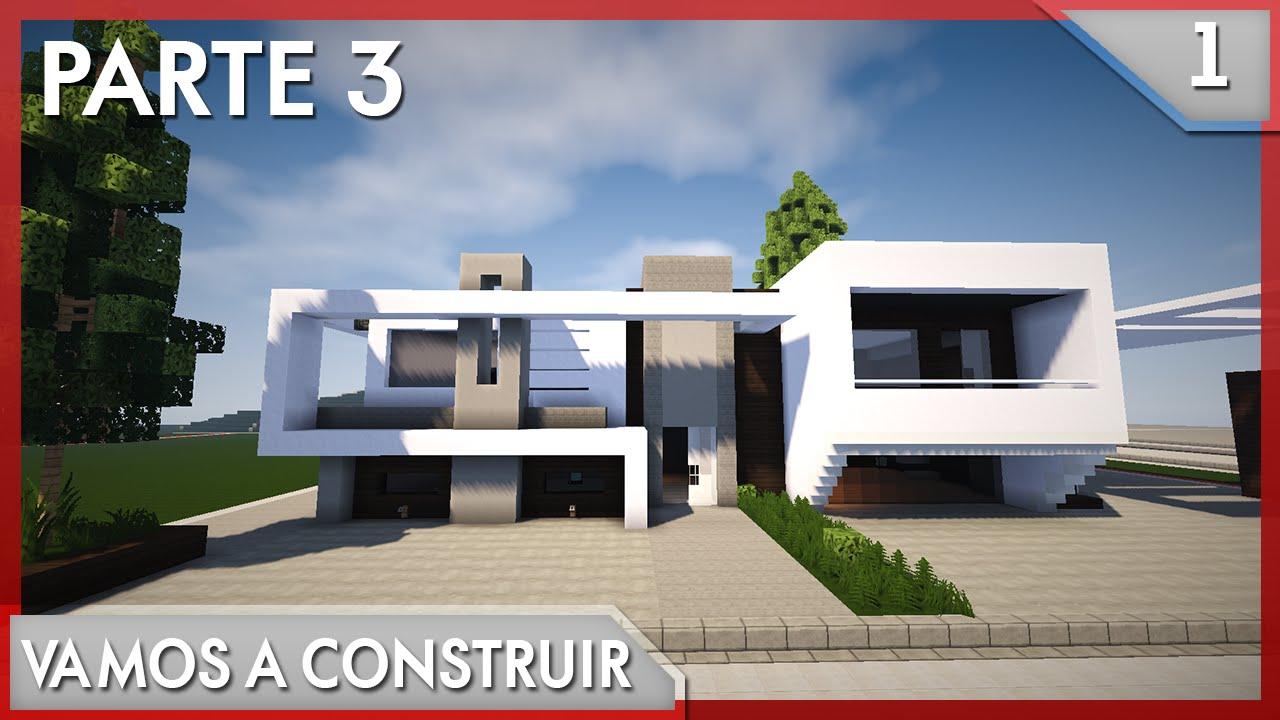 Minecraft vamos a construir casa moderna 1 3 3 for Eumaster casa moderna 8x8