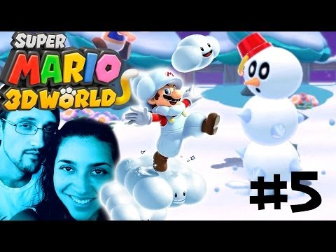Let's Play Super Mario 3D Worlds - World 3: (1 & 3) Mom & Dad Co-Op WiiU Gameplay pt. 5