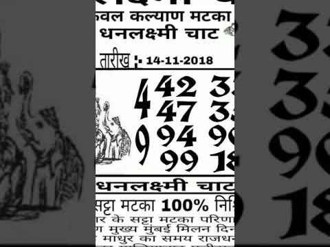 15-11-2018 Kalyan Matka leak game +919052890514 - YouTube