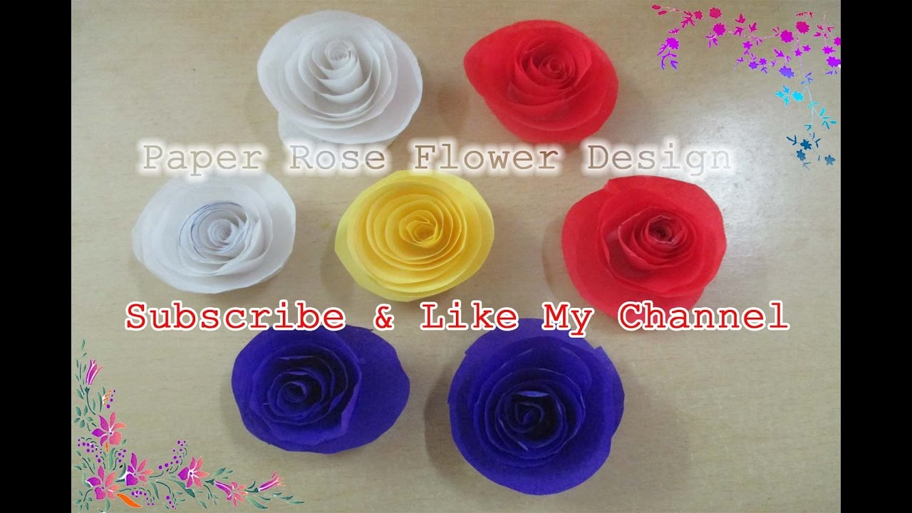 How To Make Rolled Paper Roses Quick And Easy Tutorial How To