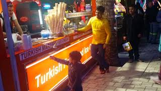 Turkish Ice Cream - Baby's cute reactions