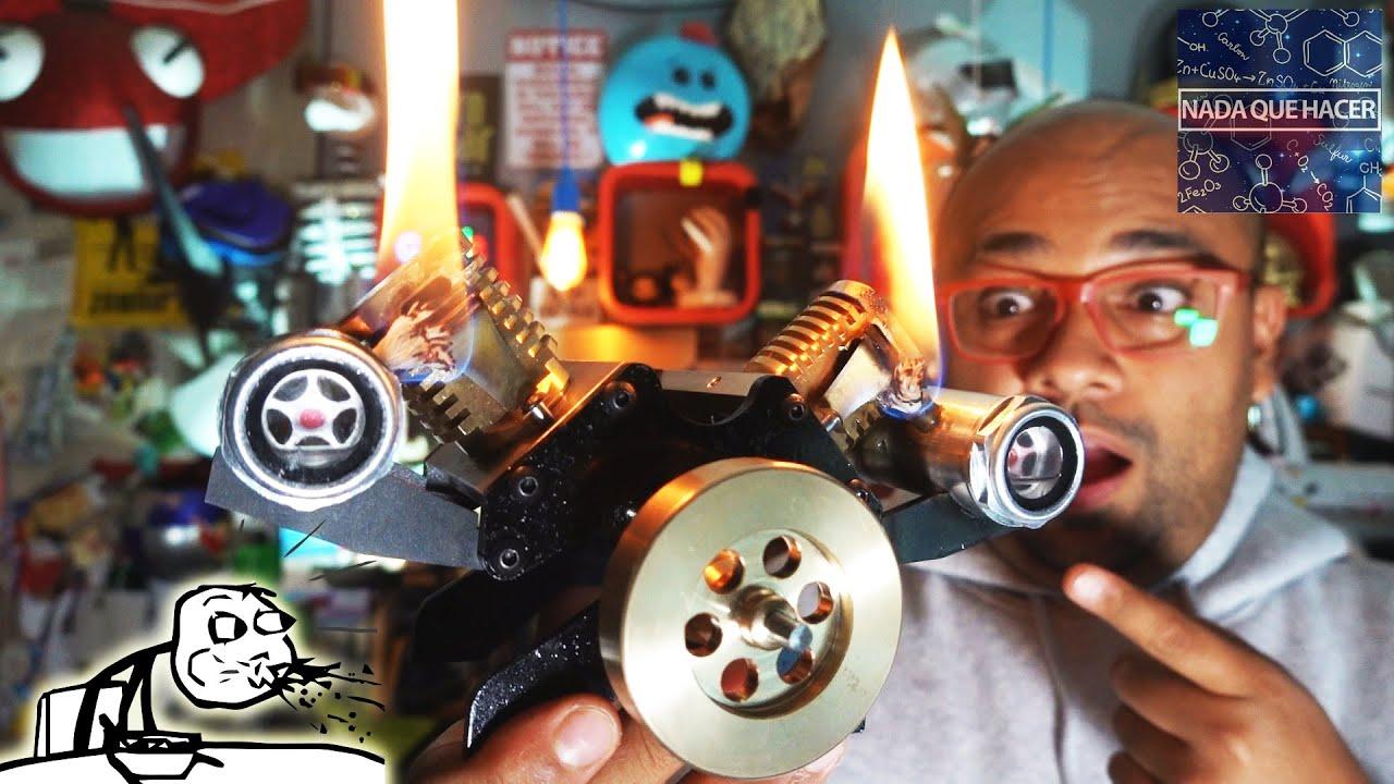 El motor mas extraño que he probado, motor de succión de flama ¡WOW! |NQUEH
