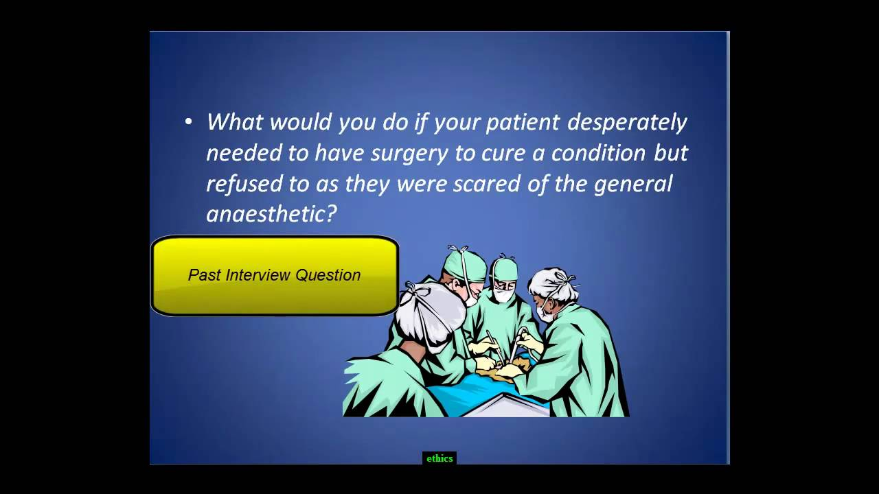 ace the medical school interview medical ethics questions