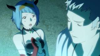 Anime: 神撃のバハムート VIRGIN SOUL Episode: 17 (Virgin Soul) / Frame scene [ HD ] (No sub) Paring: Charioce x Nina (ChariNina)