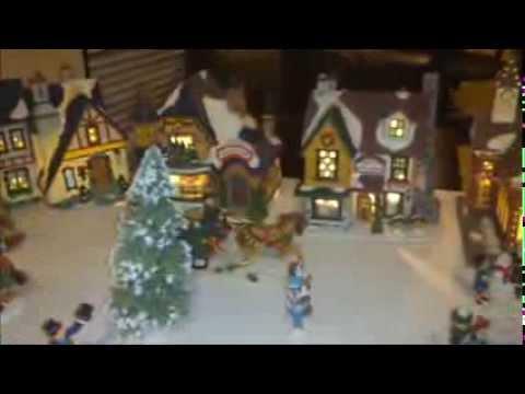 Venta de villa navide a usada youtube for Villas navidenas de porcelana