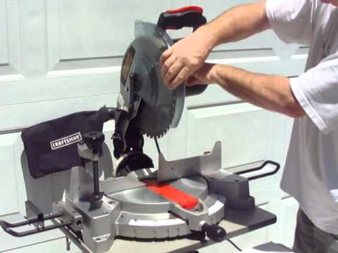 how to put on mastercraft miter blade