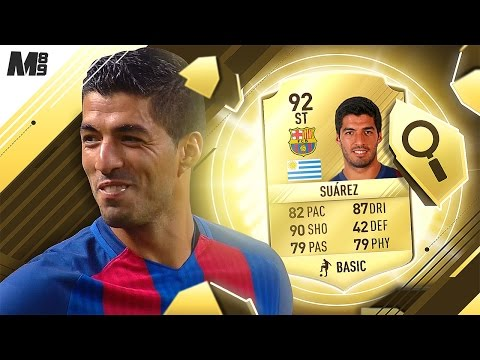 FIFA 17 SUAREZ REVIEW | 92 SUAREZ | FIFA 17 ULTIMATE TEAM PLAYER REVIEW