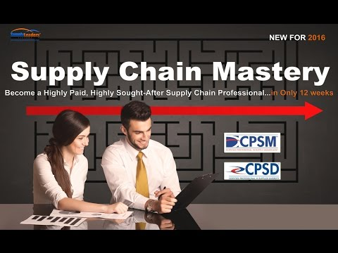 Supply Chain Mastery Course - Master strategic sourcing in 12 weeks