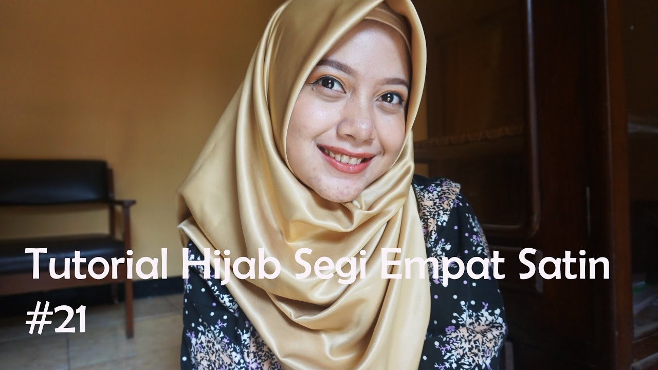 Tutorial Hijab Segi Empat Satin 21 Indahalzami YouTube