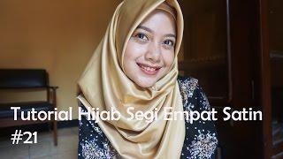Tutorial Hijab Segi Empat Satin #21 - indahalzami