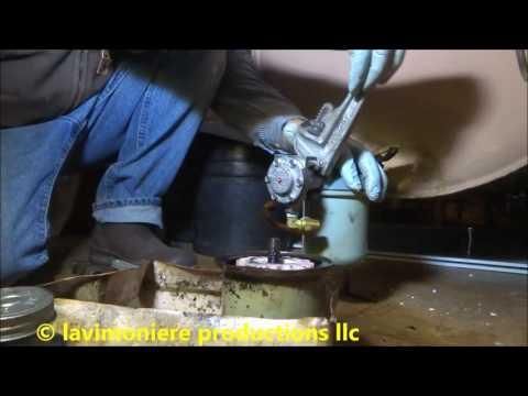 oil safety valve installed on old oil tank & line