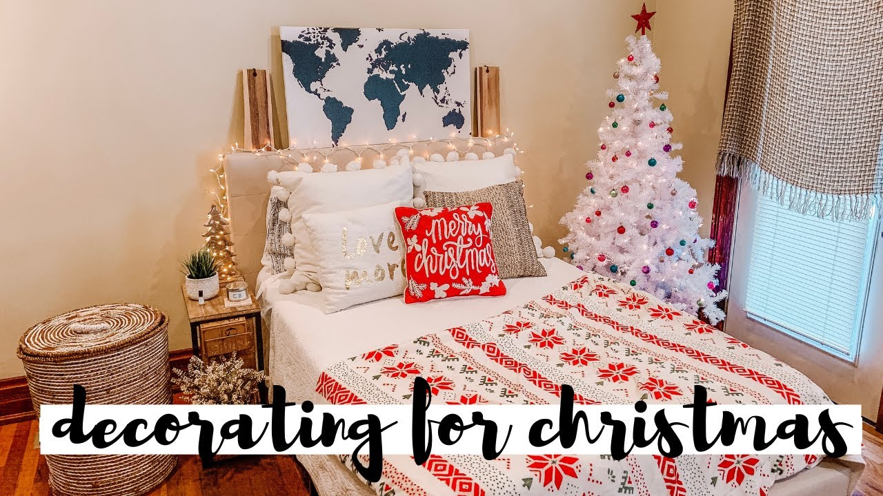 Decorating My Room For Christmas 2019 Youtube