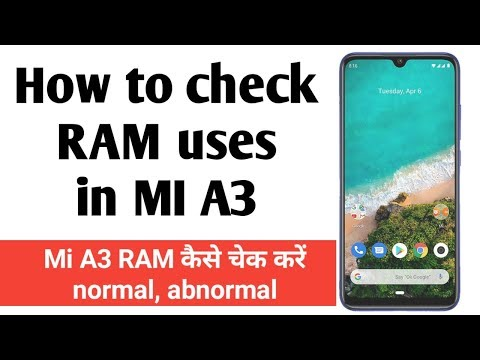 How to check RAM in Xiaomi Mi A3
