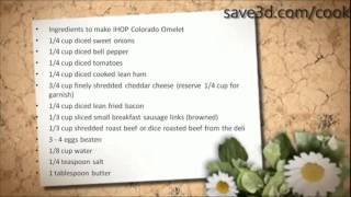 Secret Recipe - How To Make Ihop Colorado Omelet (copycat Recipes)