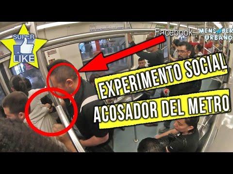 Impresionante reaccion de gente ante un acosador del metro /Experimento social /Mensajeros urbanos
