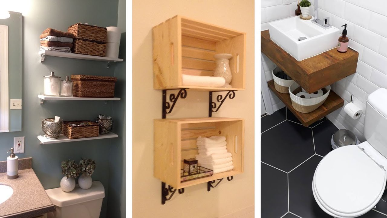 20 Genius Small Bathroom Storage Ideas Youtube
