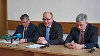 Konferencja prasowa w Starostwie Powiatowym w sprawie audytu w działdowskim szpitalu