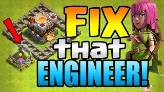 USING a GOLD RUNE!  FIX That ENGINEER ep3 | Clash of Clans