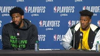 Joel Embiid & Jimmy Butler Postgame Interview - Game 2 | 76ers vs Raptors | 2019 NBA Playoffs