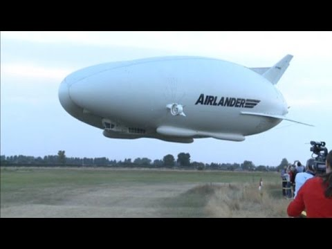 World's largest airship takes flight in London
