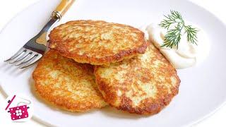 Самые вкусные ДРАНИКИ из картошки (деруны)! Все СЕКРЕТЫ приготовления. Potato pancakes! Готовим дома