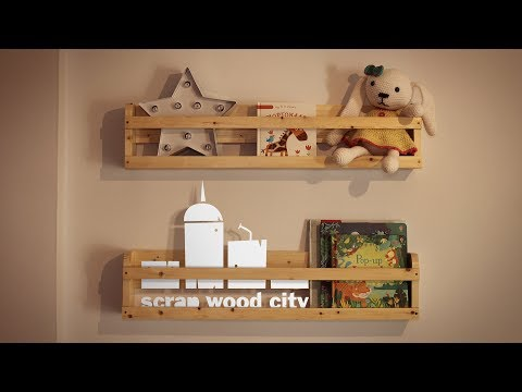 How to make two DIY safety shelves out of spruce wood
