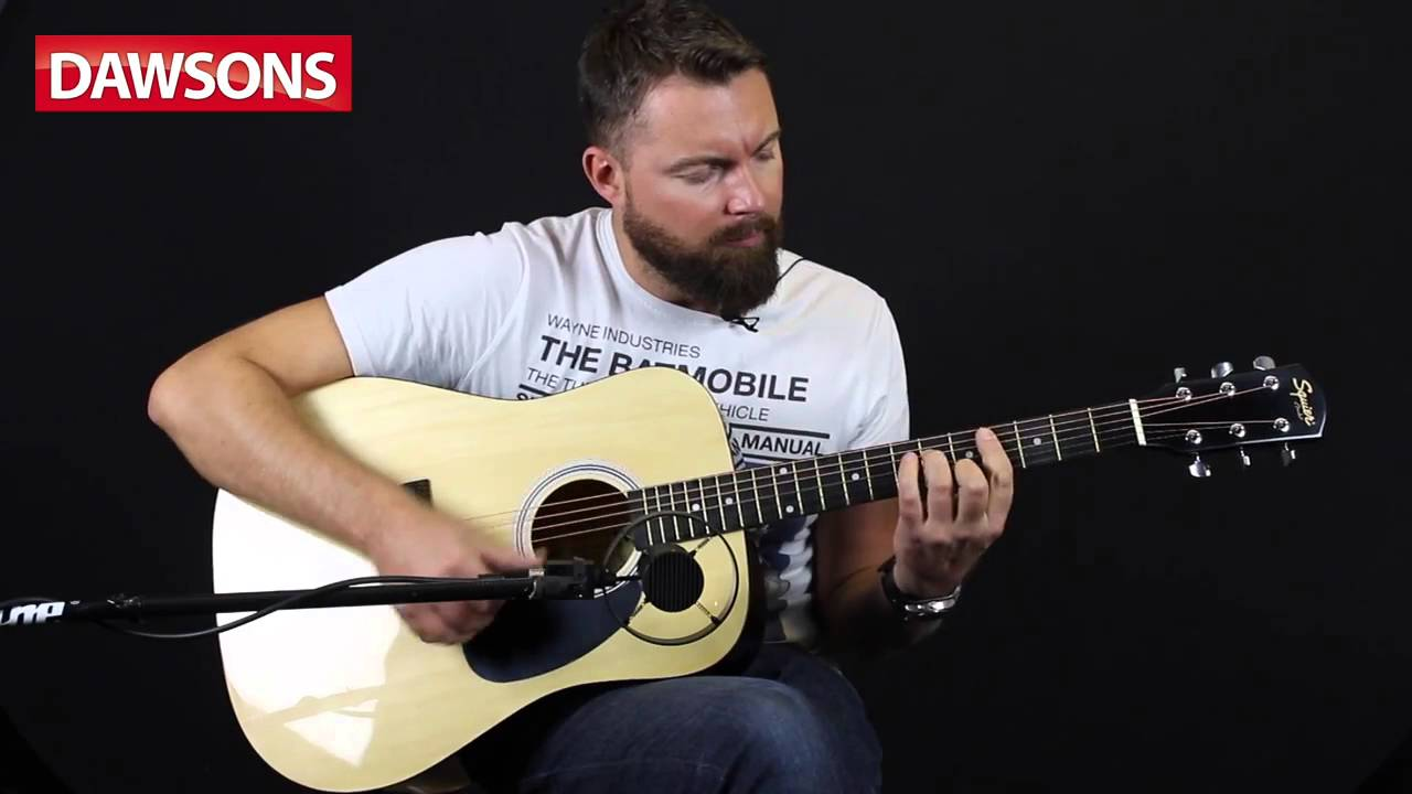 squier sa 105 acoustic guitar review youtube. Black Bedroom Furniture Sets. Home Design Ideas