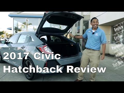 🇬🇧🏎2017 Civic Hatchback review & test drive EX-L Navigation Review features
