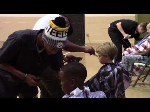 Student Haircuts at Plantersville Middle School