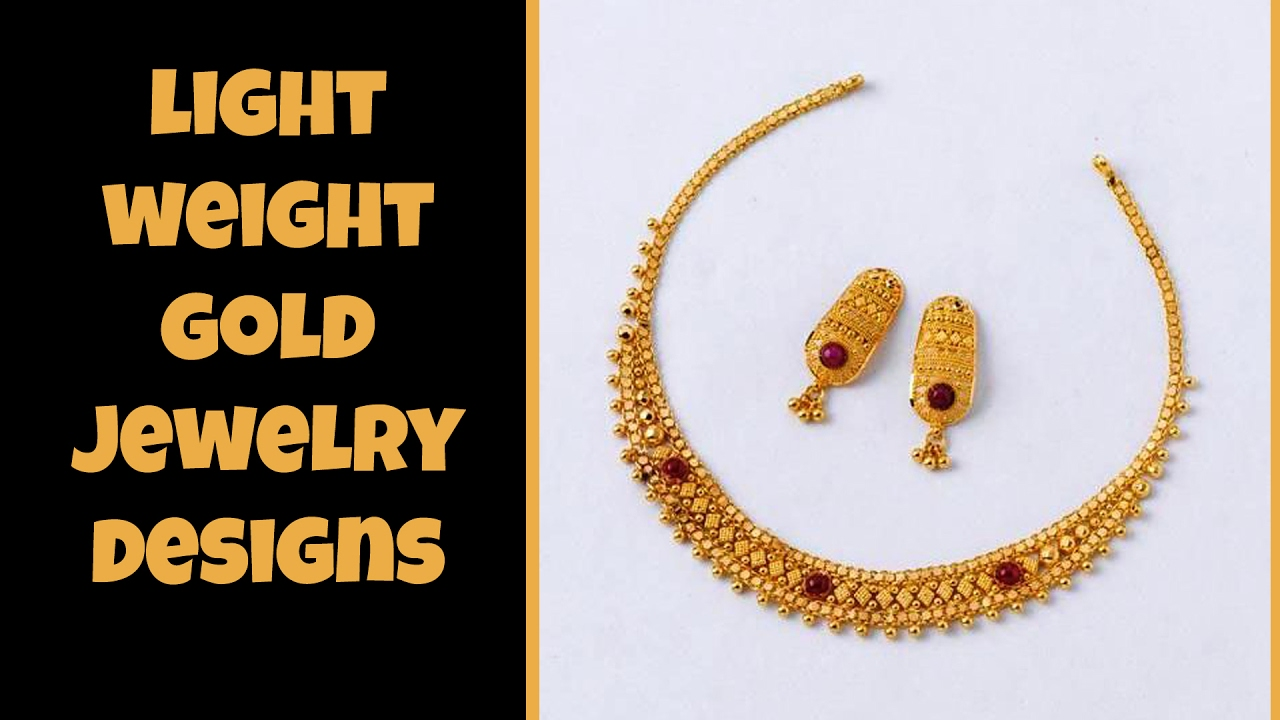 designs weight light necklace gold jewellery