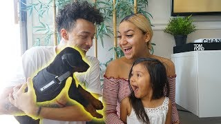 WE SURPRISED HER WITH HER OWN PUPPY!!