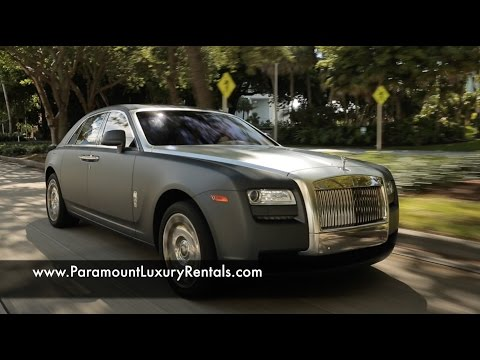 Rolls Royce Ghost - Exotic and Luxury Car Rental in Miami, FL - Paramount Luxury Rentals