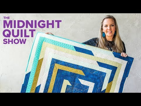 "Angela's ""Shattered Frames"" Stashbusting Strip Quilt 
