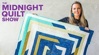 """Angela's """"Shattered Frames"""" Stashbusting Strip Quilt 