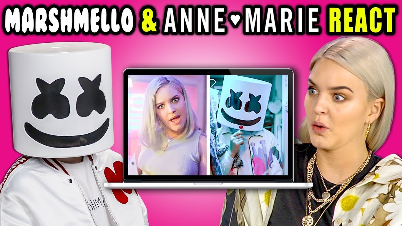Marshmello Anne Marie React To Themselves Friends