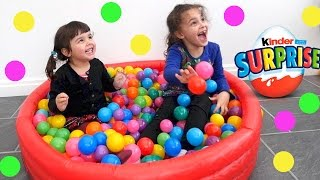 Surprise Eggs and Surprise Toys in the Ball Pit  for Kids, Children, Toddlers and Baby