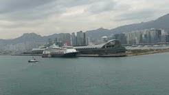 Erster Anlauf von AIDA bella in den Hafen von Hongkong