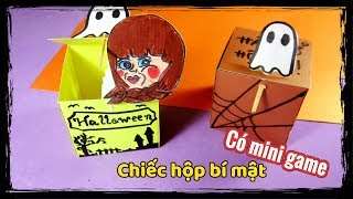 mini game ami diy lm hộp b mật halloween toy with surprise paper crafts