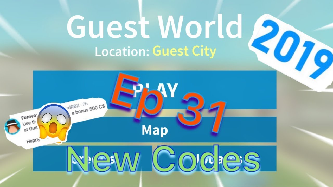 Roblox Guest World Episode 31 New Code S For 2019 Youtube