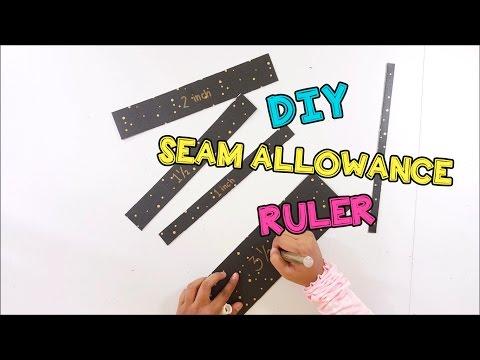 DIY Seam Allowance Ruler for fabric cutting