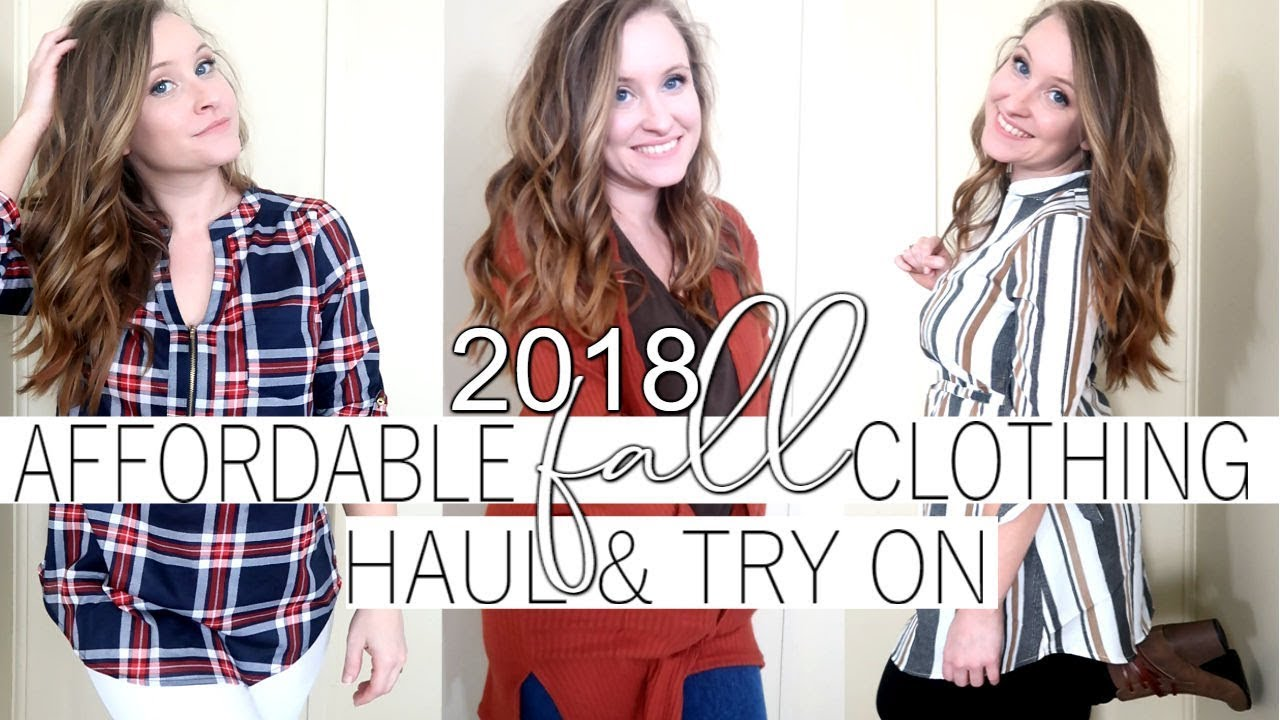[VIDEO] - AFFORDABLE FALL CLOTHING HAUL   FALL OUTFIT IDEAS 2018 7